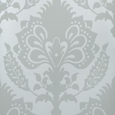 Sea Glass Damask Wallcovering by G P & J Baker