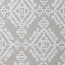 Dove Grey Geometric Wallcovering by G P & J Baker