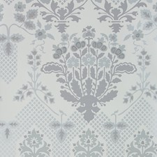 Silver Damask Wallcovering by G P & J Baker