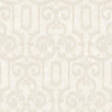 Cream Sheen/Light Coriander Ikat Wallcovering by York