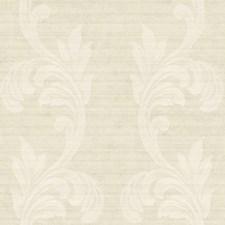 Off-white Wicker/Tan/Cream Metallic Scroll Wallcovering by York