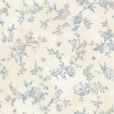 CCB02192 French Nightingale Blueberry Toile by Brewster