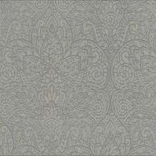 Gray/Metallic Gray Damask Wallcovering by York