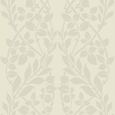 Off White/Pearl White Botanical Wallcovering by York