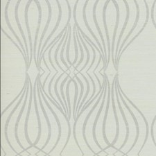 Gray/White/Metallic Geometrics Wallcovering by York
