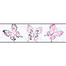 White/Pink Sure Strip Wallcovering by York