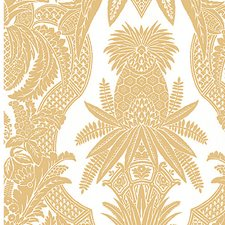 Bianco/Oro Wallcovering by Scalamandre Wallpaper