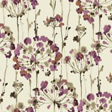 Cream/Magenta/Russet Floral Wallcovering by York