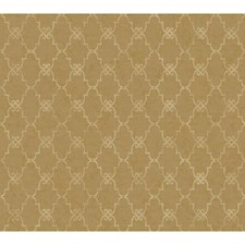 Warm Gold/Champagne Scroll Wallcovering by York