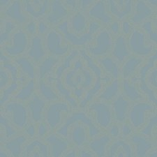Medium Blue/Taupe Damask Wallcovering by York