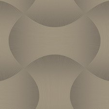 Dark Grey/Metallic Gold Geometrics Wallcovering by York