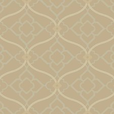Pale Metallic Gold/Medium Grey/Tan Bohemian Wallcovering by York