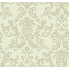 White/Pearl Wall Decor Wallcovering by York