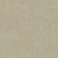 Beige/Grey/White Damask Wallcovering by York