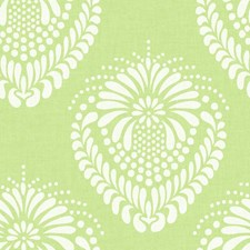 Yellow/Green/White Damask Wallcovering by York
