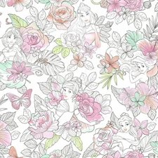 DI0966 Disney Princess Royal Floral by York