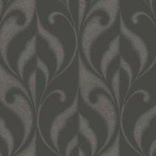Iced Graphite Grey/Smoke Grey Scroll Wallcovering by York