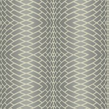 Frosted Pewter/Frosted Silver/Dove Grey Plush Geometrics Wallcovering by York
