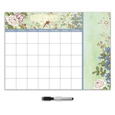 DWPE1296 Vintage Bazaar Dry Erase Monthly Calendar Decal With Notes by Brewster