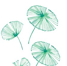 DWPK2463 Watercolor Fronds Wall Art Kit by Brewster