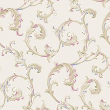Cream/Light Taupe/Tan Traditional Wallcovering by York