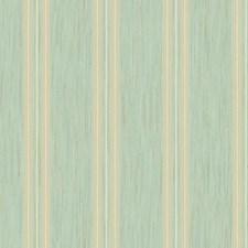 Aqua/Metallic Gold/Cream Stripes Wallcovering by York