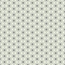 Cream/Silver/Black Floral Wallcovering by York