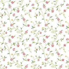 White/Light Pinks/Yellow Greens Botanical Wallcovering by York