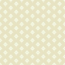Ecru/White Small Prints Wallcovering by York
