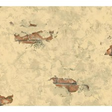 Cream/Light Taupe/Terracotta Wall Decor Wallcovering by York