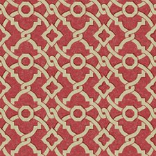 Coral/Beige Geometrics Wallcovering by York