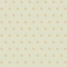 Cream/Dark Beige/Light Grey Geometrics Wallcovering by York