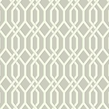 Light Grey/White/Dark Grey Geometrics Wallcovering by York