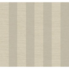 Soft Silver Pearl Metallic/Lacey Cream/Hint Of Linen Beige Wide Stripe Wallcovering by York