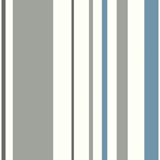White/Grey/Medium Blue Children Wallcovering by York