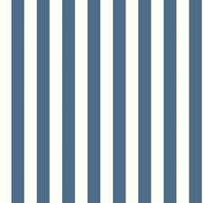 White/Dark Blue Sure Strip Wallcovering by York