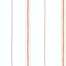 Off-white/Pink/Orange Sure Strip Wallcovering by York