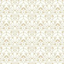 White/Gold/Glitter Children Wallcovering by York