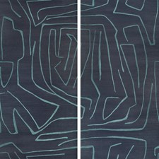 Navy Contemporary Wallcovering by Groundworks