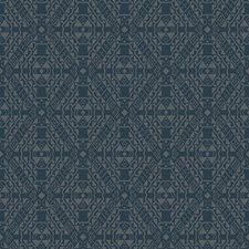 Darkest Blue/Silver Bohemian Wallcovering by York