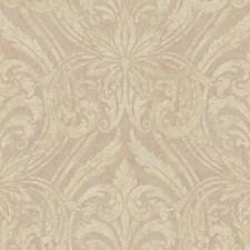 Cream/Iridescent Gold/Purple Damask Wallcovering by York