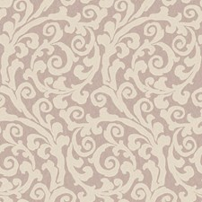 Lavender/Cream Scroll Wallcovering by York