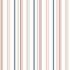 White/Blue/Red Stripes Wallcovering by York