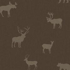 Dark Brown/Light Brown Animals Wallcovering by York