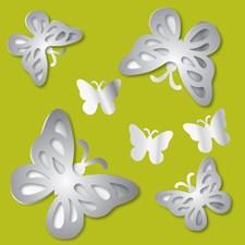 MA99951 3D Butterflies Mirror Art by Brewster