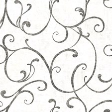 Cream Scroll Wallcovering by Brewster
