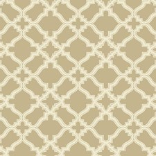 Tan/Off-white Geometrics Wallcovering by York