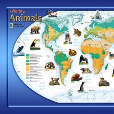 NG94614 Animals Of The World Wall Mural by Brewster