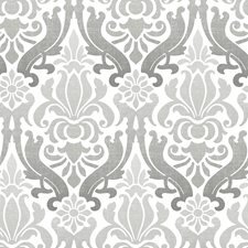 NU1827 Grey Nouveau Damask Peel & Stick by Brewster