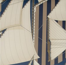 Navy/Marine Novelty Wallcovering by Lee Jofa Wallpaper